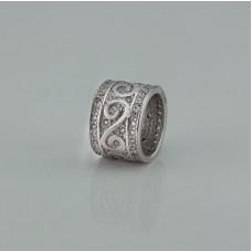 Серебряная бусина ЮМ-3908
