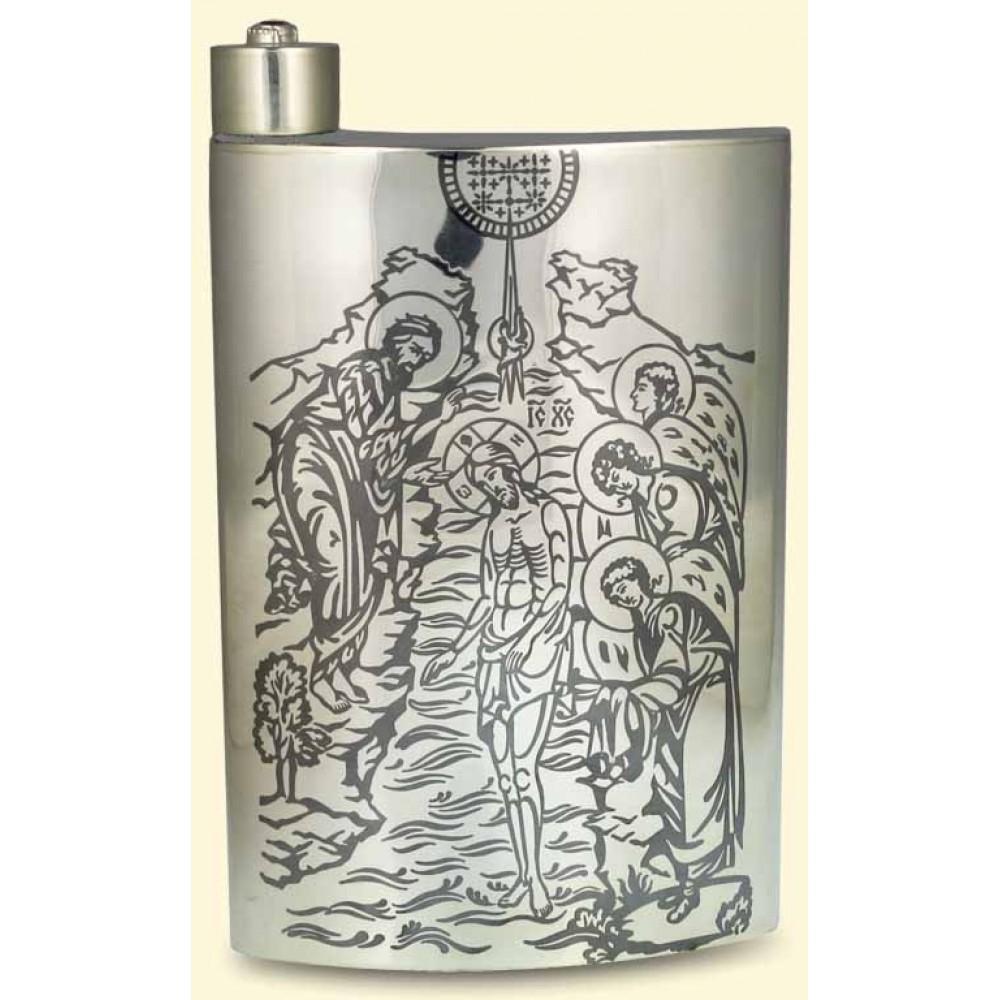 Серебряная фляга для святой воды АГ-250044