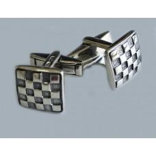 Срібний запонки Шахи 2 бр-6110021