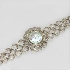 Серебряные часы на браслете бр-10030