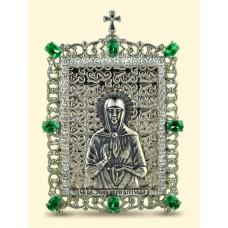 """Серебряная икона """"Святая Матрона Московская"""" АГ-2.76.0363"""