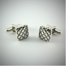 Серебряные запонки ЮМ-8245