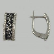 Серебряные серьги ЮМ-21419