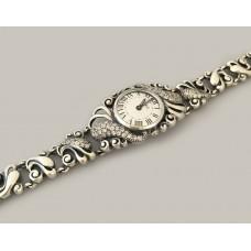 Серебряные часы БР-10058