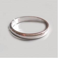 Срібна весільна каблучка ЮМ-10700
