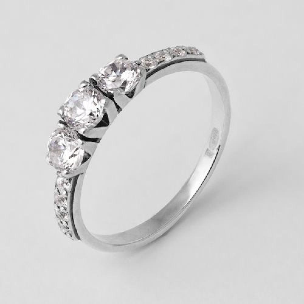 Серебряное кольцо ЮМ-1164