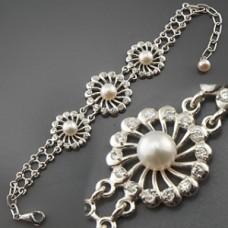 Браслет срібний Жемчужина 168014