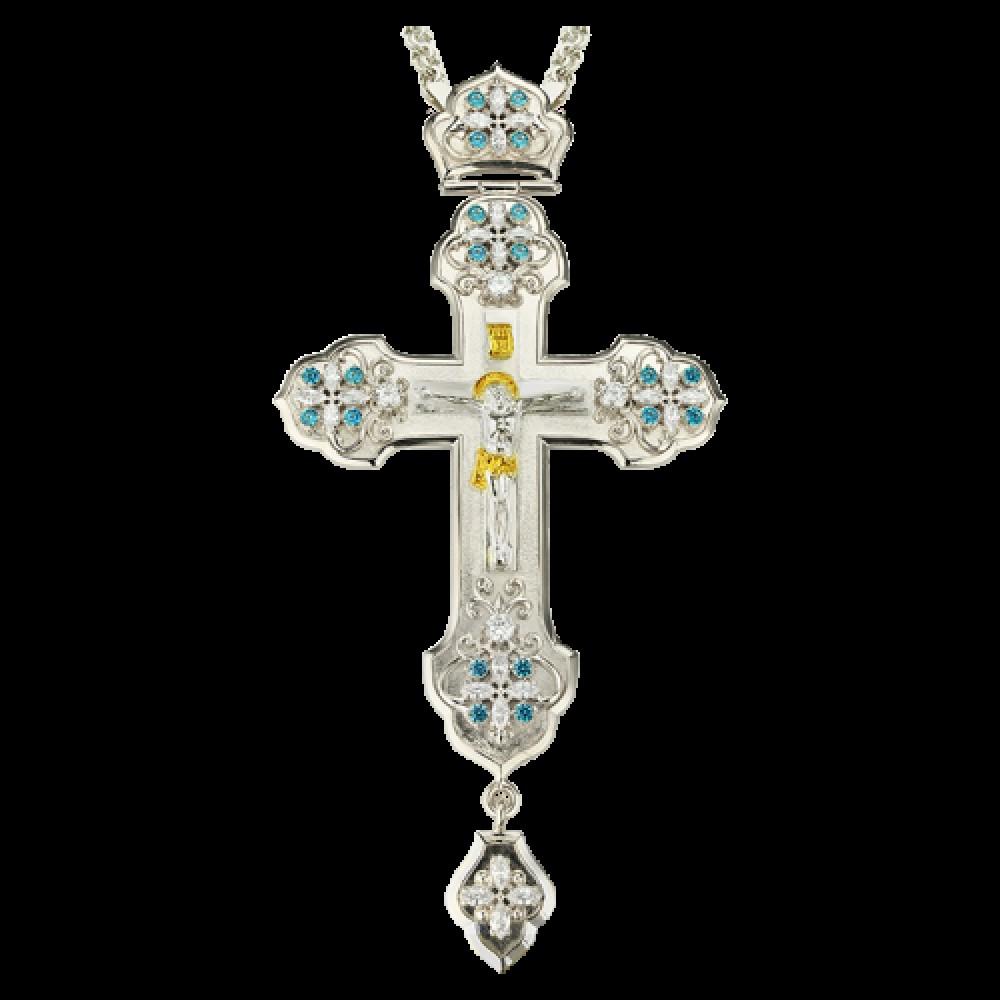 Крест наперсный латунный с цепью 2.10.0104Л1Л