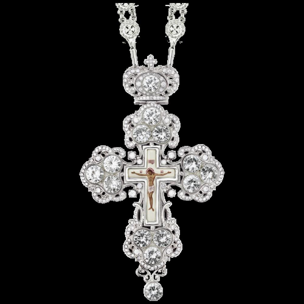 Крест наперсный латунный с принтом 2.10.0126Л-235Л