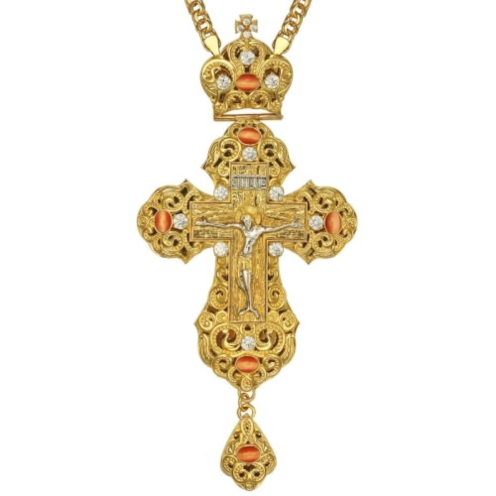 Крест наперсный латунный в позолоте 2.10.0164ЛП1ЛП
