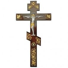 Крест напрестольный латунный на дереве в позолоте аг-2.7.0580ЛП