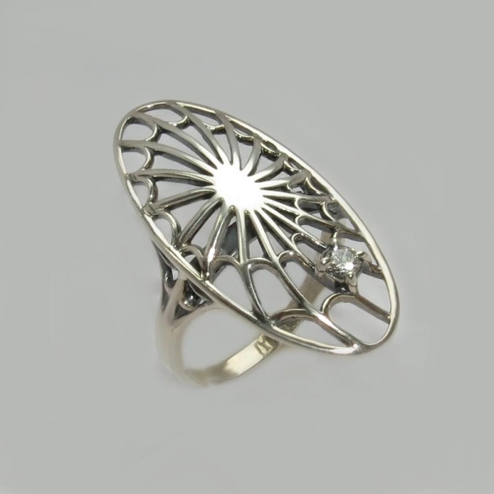 Серебряное кольцо бр-12209