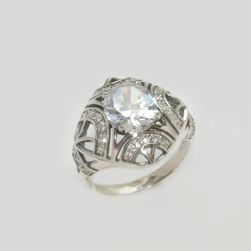 Серебряное кольцо бр-12256