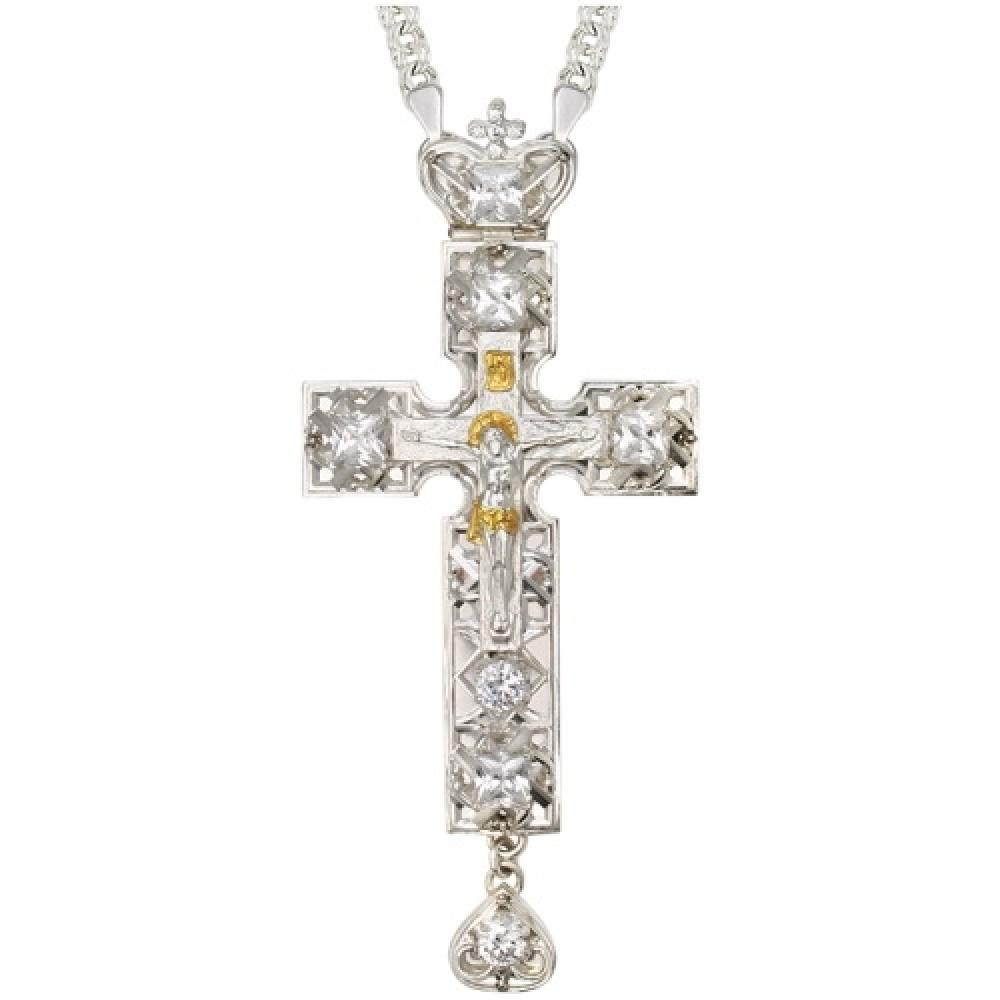 Крест латунный со вставками 2.10.0142Л1Л