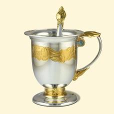 """Срібний чайно-кавовий набір """"Аристократ"""" АГ-380054"""
