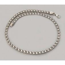 Серебряная цепочка Бисмарк с камнями бр-1003741