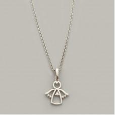 Серебряное колье в стиле минимализм Ангел ЛЗ-39230/5058