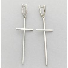 Серебряные серьги Кресты ЗЛ-2700151