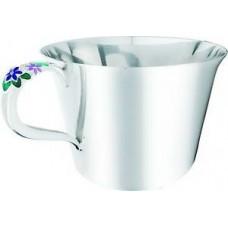 """Срібна чашка """"Бузок"""" ХЮ-080320"""
