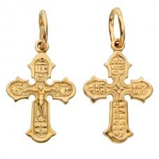 Золотой крест для крещения ребенка аг-1.4.0785