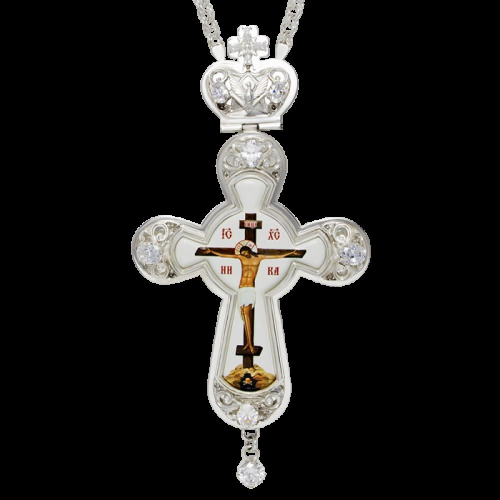 Крест латунный со вставками 2.10.0121Л-21Л