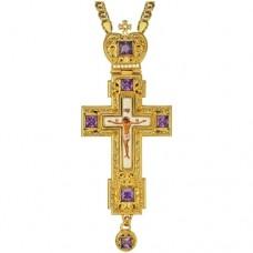 Крест наперсный латунный в позолоте 2.10.0157ЛП-21ЛП