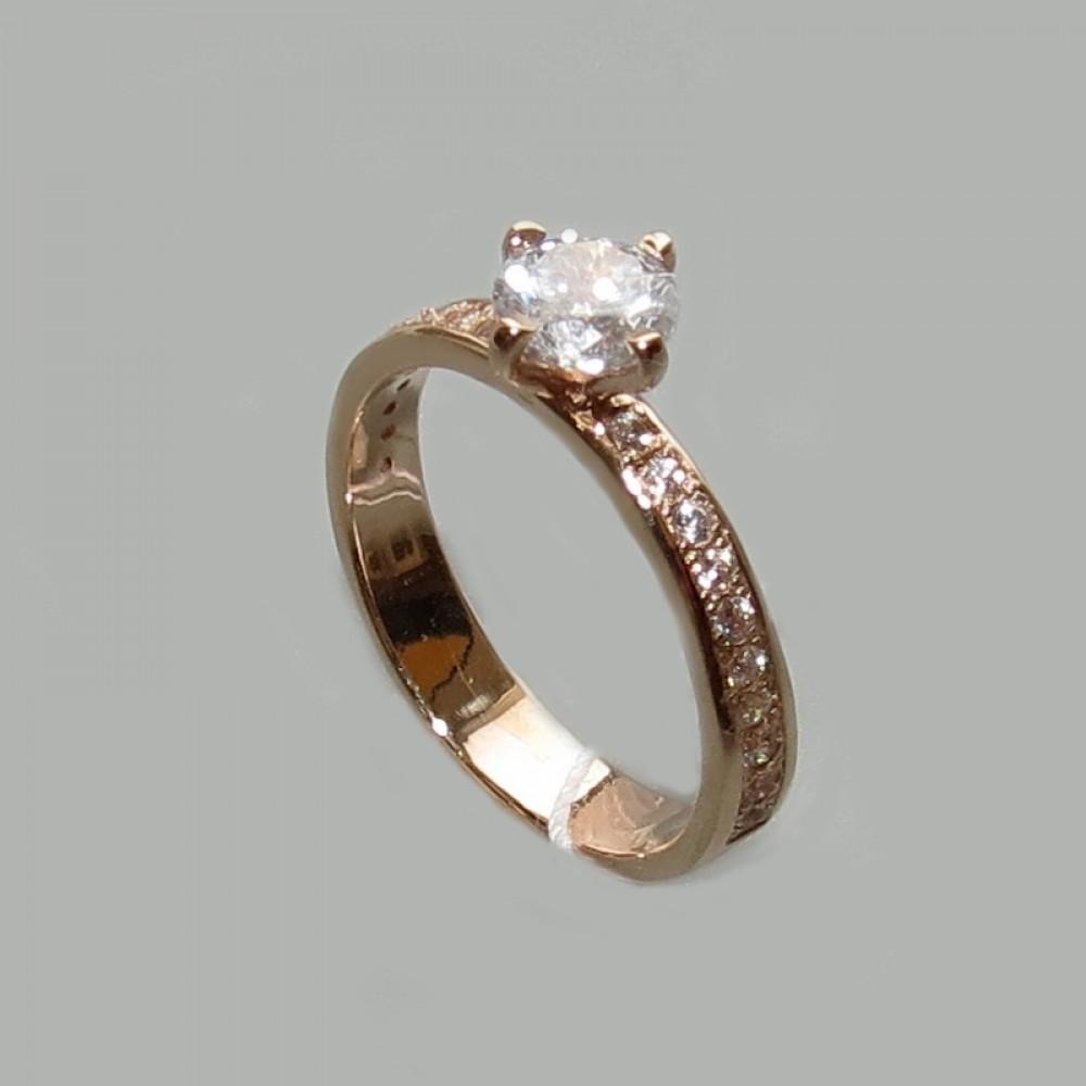 Золотое кольцо с камнями дс-20029