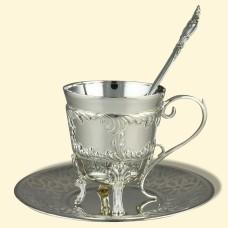 """Срібний кавовий набір """"Неаполь"""" АГ-380056"""