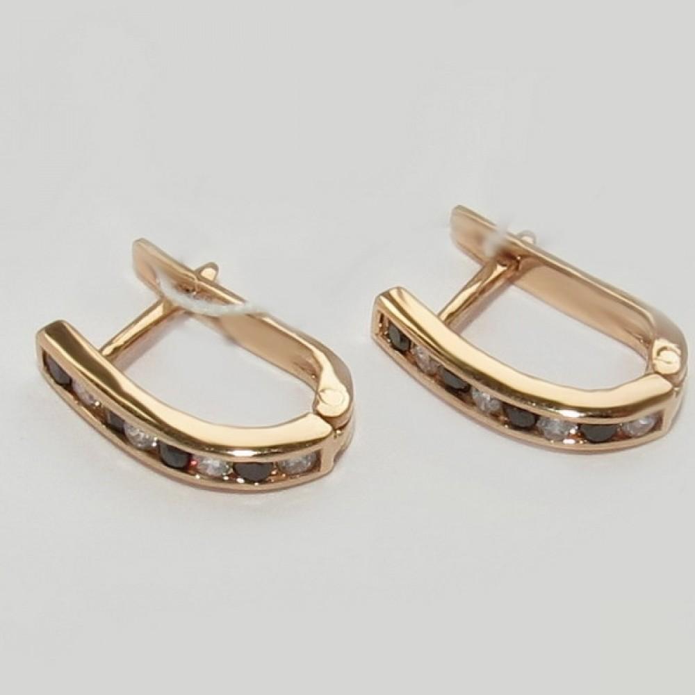 Золотые серьги дс-30015