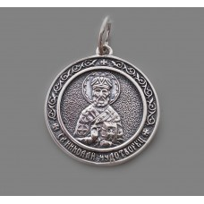 Срібна ладанка Миколай Чудотворець 96 бр-3100435