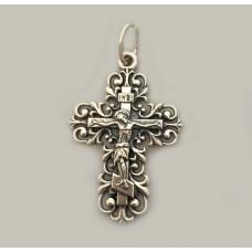Срібний хрестик ажурний жіночій бр-0063831