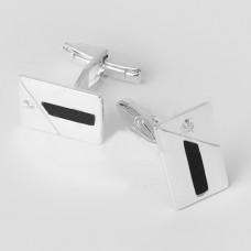 Серебряные запонки ЮМ-8072