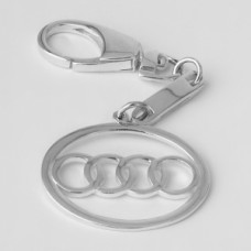 "Серебряный брелок ""Audi"" (Ауди) 8088"