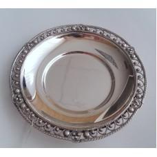 Серебряное блюдце бр-8100032