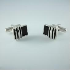 Серебряные запонки ЮМ-8248