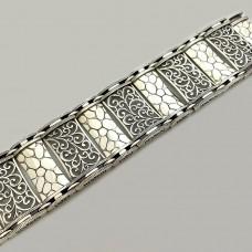 Серебряный широкий браслет ЛС-4369