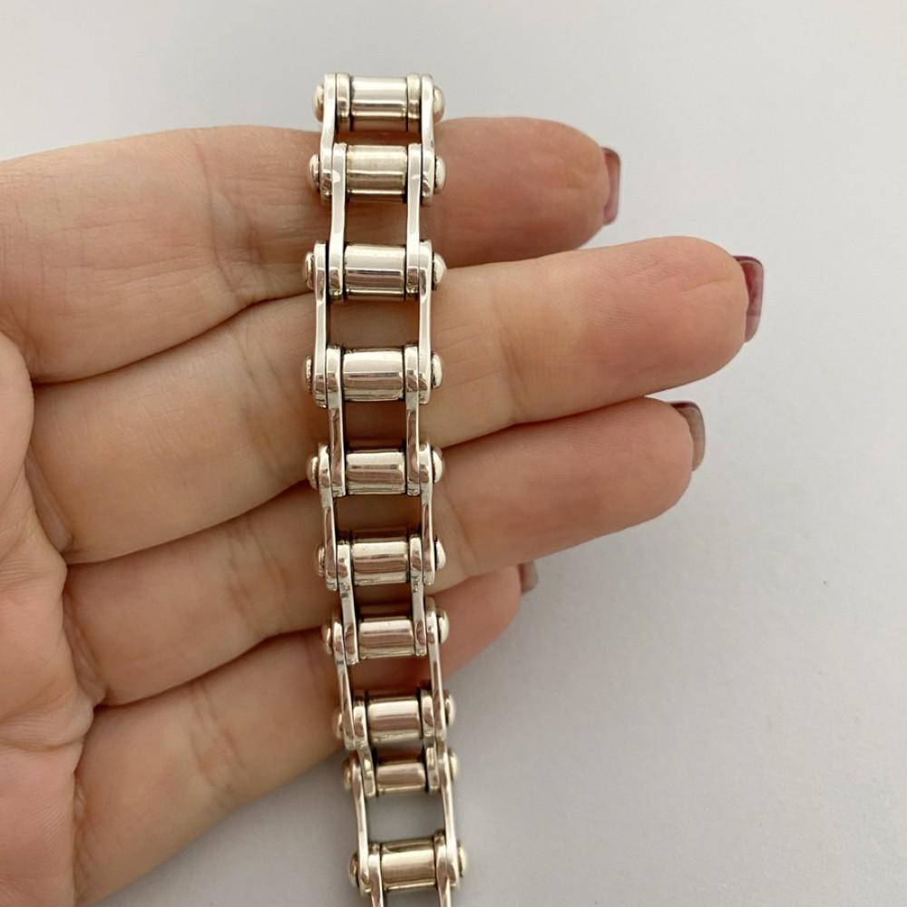Серебряный мужской браслет Байк БР-0065751