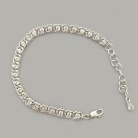 Срібний браслет Бісмарк з каменями ЛС-7003