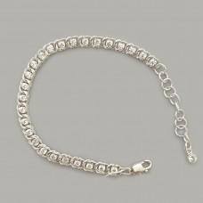 """Срібний браслет """"Бісмарк з каменями"""" ЛС-7003"""