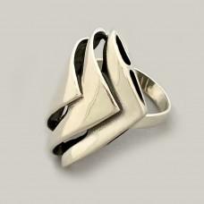 Серебряное кольцо Волна ЛС-10103