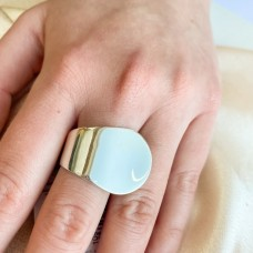 Серебряное гладкое кольцо в стиле минимализм ЛС-10146