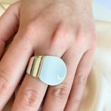 Срібне гладке кільце в стилі мінімалізм ЛС-10146