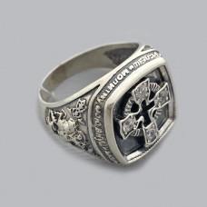 Серебряное кольцо мужское Победоносец БР-1424321