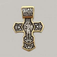 Серебряный крест с позолотой и чернением ЛЗ-34001
