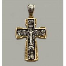Серебряный крест с позолотой и чернением ЛЗ-34019