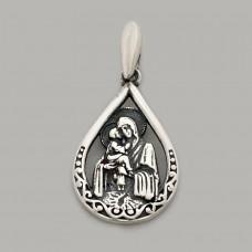 Серебряная ладанка Почаевская Божья Матерь  СТП-313