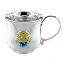 """Серебряная чашка """"Ангелочек"""" 2.8.0153"""